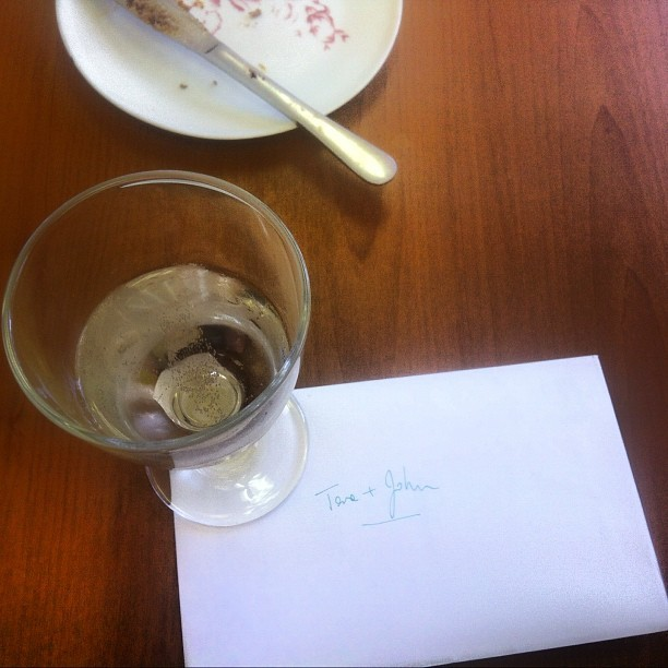 I have lovely colleagues! :) #champagne #CongratulationsCard (Taken with Instagram)
