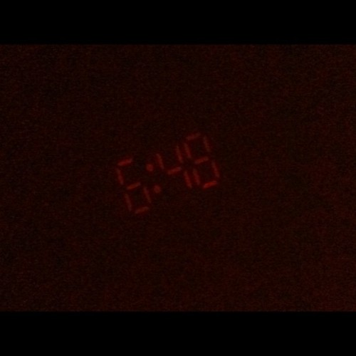 Projector clock says its time to get up. :( (Taken with Instagram)