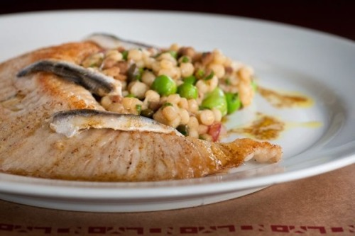 OOO LA LA! One of our top selling dishes. 'Skate Fish' with toasted cous cous, capers, fava beans, white anchovies, and champagne vinaigrette. Theres plenty more where that came from.