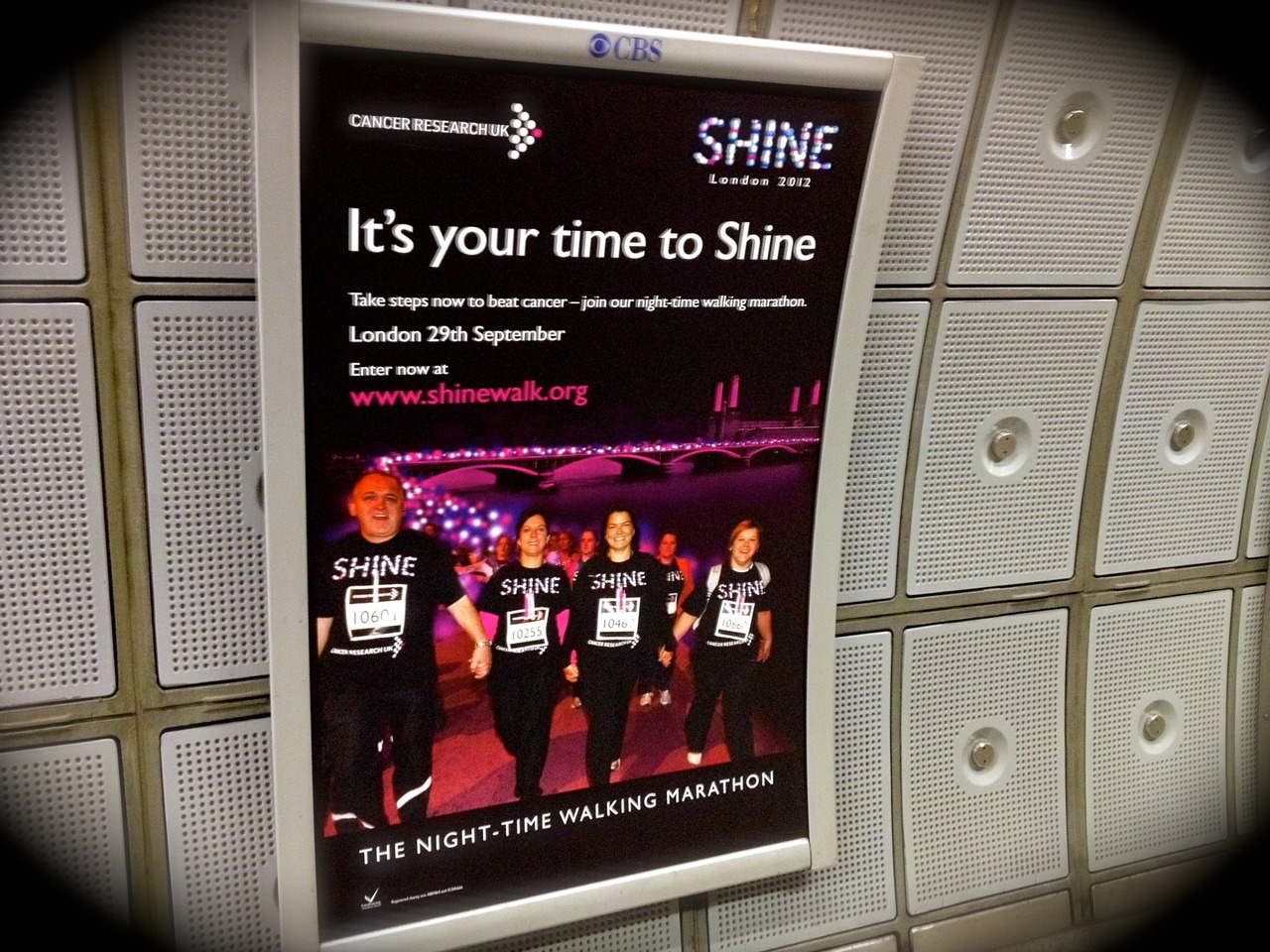 It's your time to Shine | Another good example of creative communications from Cancer Research - the UK's No. 1 charity brand according to the Charity Brand Index 2011 compiled by Third Sector Research.