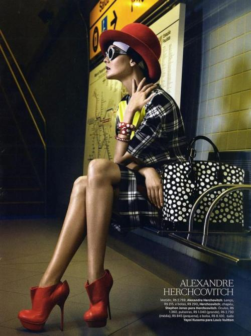 opaqueglitter:  Conexão Fashion Publication: Vogue Brazil September 2012Model: Caroline TrentiniPhotographer: Fabio Bartelt   Mix it up.