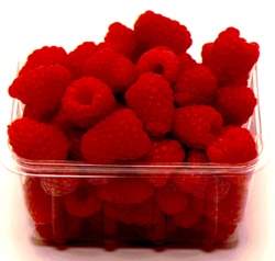 What a perfect punnet of raspberries…