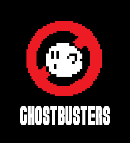 8-Bit Ghostbusters Mario and Luigi - the original Ghostbusters Created by Matt Cowan Buy the tee from Red Bubble or Qstoms Vote for it on Qwertee
