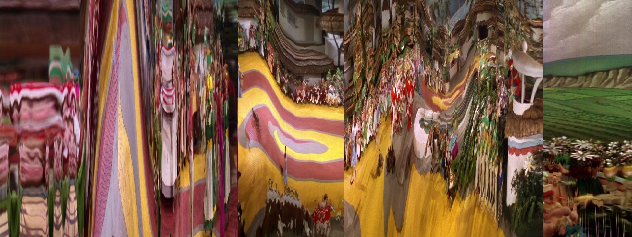 Sequence from The Wizard of Oz (1939)Just follow the yellow brick road