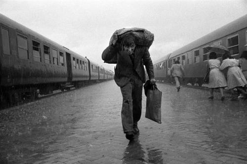 Nikos Economopoulos Albania. Tirana. The Central Railway station. 1991.