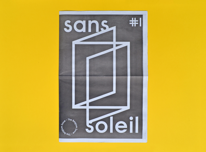 Sans soleil — The Belgium Issue Graphic design by Vincent Vrints  Published by Ward Zwart