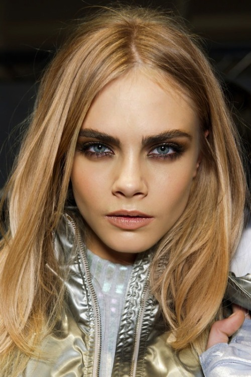 cara and her awesome cheekbones.