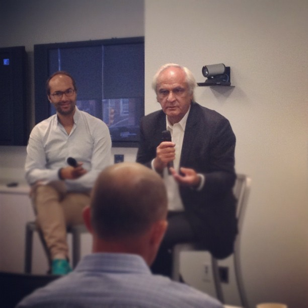 Jean-Marie Dru speaking about his new book #JETLAG this morning at #Google (Taken with Instagram at Google Chelsea Market)