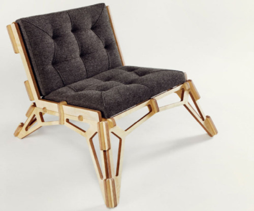 23D Skeleton Chair by Gustav Duesing, via Chair Blog. (Yes, there's a chair blog. It's quite good, actually.)
