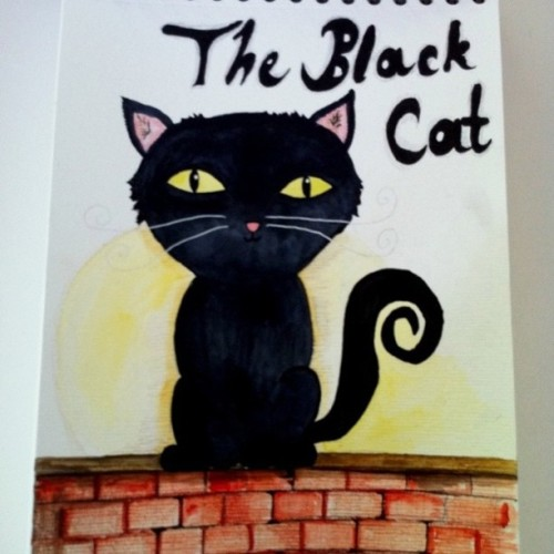 #cat#illustration#black#watercolor#ink (Wurde mit Instagram aufgenommen)