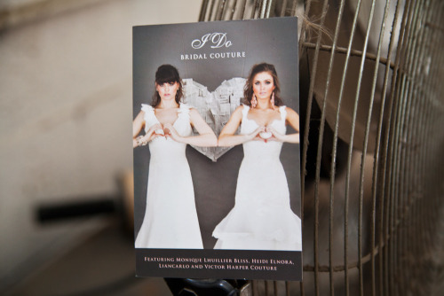 "These postcards for I Do Bridal Couture in South Louisiana are both elegant and trendy.  Product: Postcards Stock: 16 pt. Soft Touch Card Stock Size: 6 x 4"" Inks: Full Color"
