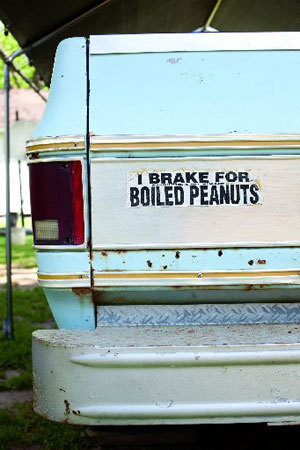 I brake for boiled peanuts.