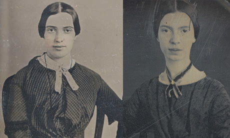 "darienlibrary:  libraryjournal:  laphamsquarterly:  Teenage Emily Dickinson, meet adult Emily Dickinson….maybe. A new photograph has surfaced in Amherst that reportedly shows Emily Dickinson in her mid-twenties. Her dress is apparently out of fashion for the time,1859, but that's in keeping with her personality: ""I'm so old fashioned, Darling, that all your friends would stare."" ""Emily Dickinson gets a new look in recovered photograph"" [The Guardian]  Their eyes seems different, their noses too. But so many things the same! Two beautiful photographs of what might be the same brilliant woman.  I see a distinct funeral in her brain, so it must be the same Emily Dickinson."