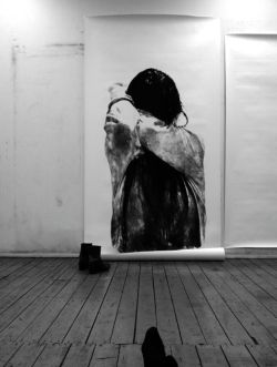 crematorie:  Large-scale charcoal drawings by Anouk Griffioen. (via)