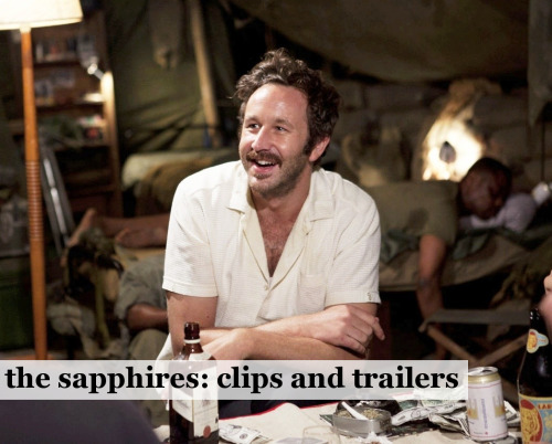 Have done a new clips and trailers post today, this one's for Chris O'Dowd's new film - The Sapphires. Any Chris O'Dowd fans here? The Sapphires trailers and clips.