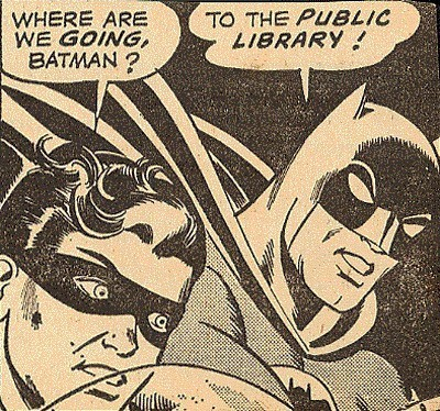 quickquirk:  Batman discovers the joy of reading.