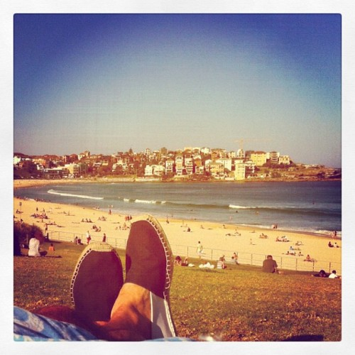 Spring has sprung in Sydney on Bondi Beach (Taken with Instagram)