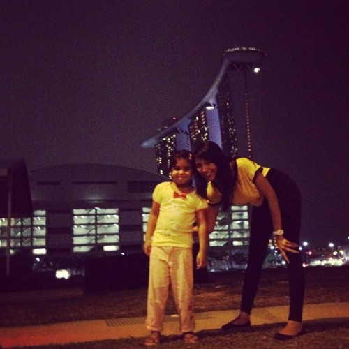 Taken with Instagram at Marina Bay Sands Olympic Walk