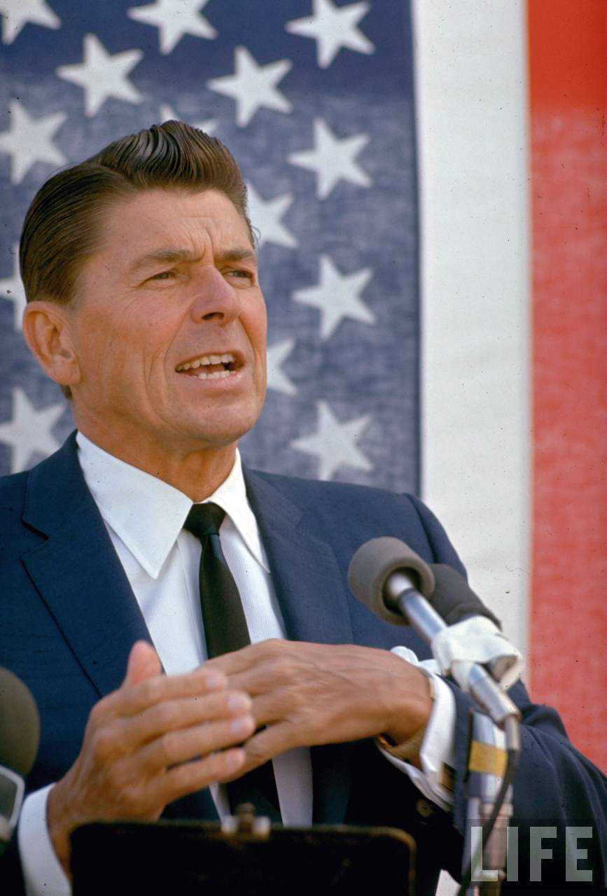When It Was Okay To Campaign In A Custom Dupioni Silk Suit. Ronald Reagan, 1966.