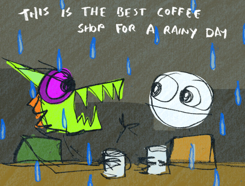 explodingdog:  Rainy Day Coffee Shop