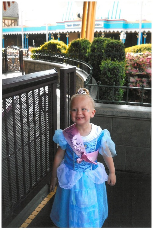 Look at Emma dressed up as Cinderella during her Disney World wish! Isn't she cute?!