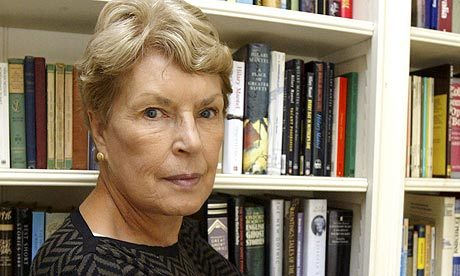 Ruth Rendell, glaring.