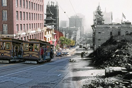 San Francisco Then+Now of the Day: The 1906 San Francisco earthquake — and subsequent fires — brought the city to its knees. Good thing it recovered, because photographer Shawn Clover's composite photos of then and now are absolutely stunning. [highdefinite]