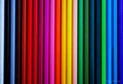 Colored Pencils - Vertical lines by Thibosco17 on Flickr.