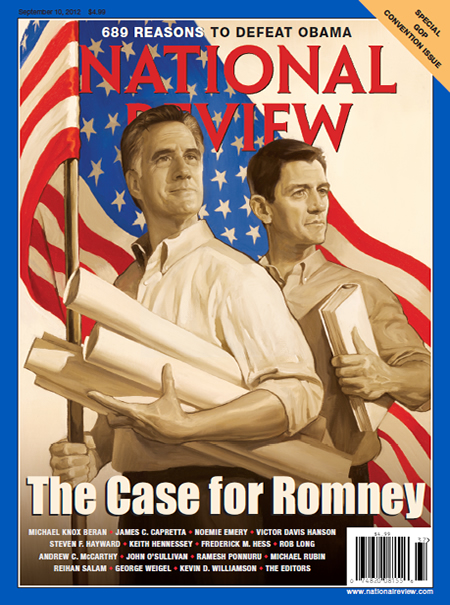Bag's Take-Away:  More evidence of Romney/Ryan running on nostalgia as The National Review goes for a WPA theme. via The National Review Visit BagNewsNotes: Today's Media Images Analyzed ————— Topping LIFE.com's 2011 Best Photo Blogs — also follow us on Twitter and Facebook.