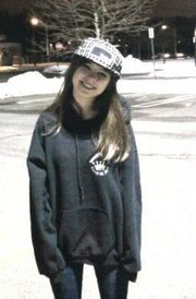 my ex boyfriend Julian took this picture of me winter'10. i loook so tiny.