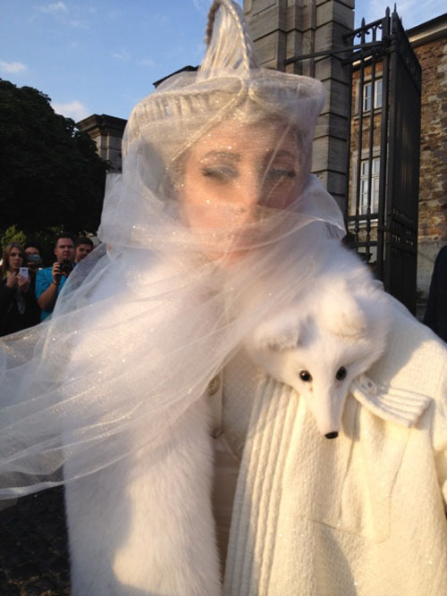 Gaga in Germany a few moments ago.