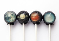explore-blog:  What's not to love about these solar system lollipops? A perfect way to celebrate the 35th birthday of Voyager 1, which brought us the iconic Pale Blue Dot. (↬ Doobybrain)
