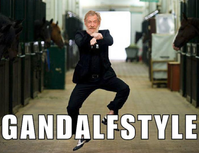 Just a little Oppa Gandalf Style.  We dig it.  Follow this blog for endless hours of laughter