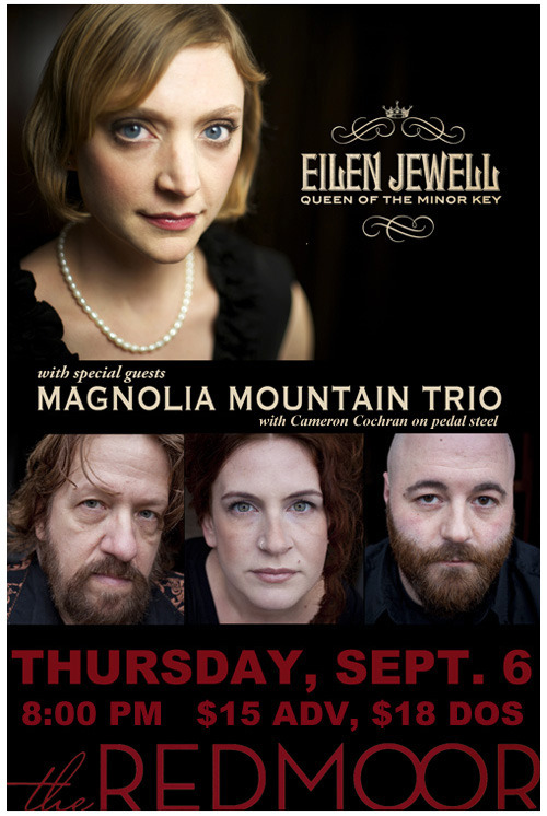 Magnolia Mountain (trio) is opening for Eilen Jewell @ The Redmoor in Cincinnati, Ohio - Thursday 9/6. Stream/Buy/DL Magnolia Mountain's latest - Town & Country