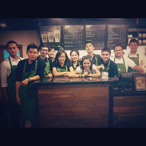 The Training Team! #instagram #instaphoto #instago #instagood #instadaily #photooftheday #like #Follow #iphonesia #indonesia #training #barista #coffee #starbucks  (Taken with Instagram)
