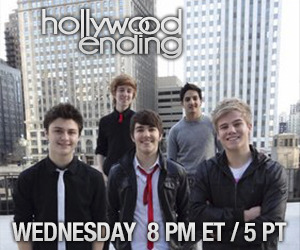 Live Hollywood Ending chat! Catch Hollywood Ending Live on Stickam later today starting at 8PM ET / 5PM PT!