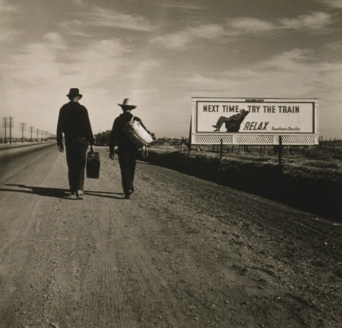 Dorothea Lange, Toward Los Angeles, Calif., 1937. Collection of the Library of Congress, Washington. 3rd of May's artwork for Day One of the Democratic National Convention.