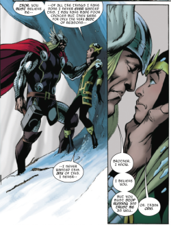 marvelentertainment:  MARVEL PANEL OF THE DAY From: Mighty Thor #19 (on sale now!) As EVERYTHING BURNS, Thor and Loki have a chat.