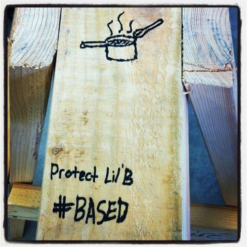 My sawhorse in engineering #swag #protectlilb #bitchmob #taskforce #cooking #based  (Taken with Instagram)