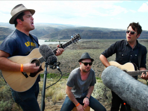 "Watch the Brooklyn trio We Are Augustines play a stripped-down cover of Crooked Fingers' ""New Drink for the Old Drunk"" outside the stunning Gorge Amphitheater."