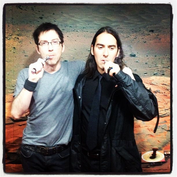fuckyeahdhaniharrison:  Dhani Harrison and Liam Lynch