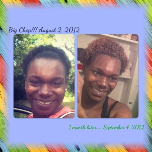 1 month after I BC!!!!!!!! #bigchop #natural #naturalhair  #hairgrowth  (Taken with Instagram)