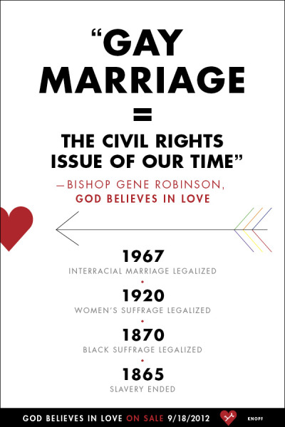 From the IX Bishop of the Diocese of New Hampshire in the Episcopal Church—the first openly gay person elected to the historic episcopate, and the world's leading religious spokesperson for gay rights and gay marriage—a groundbreaking book that lovingly and persuasively makes the case for same-sex marriage using commonsense, reasoned, and religious arguments. Read more about God Believes in Love.