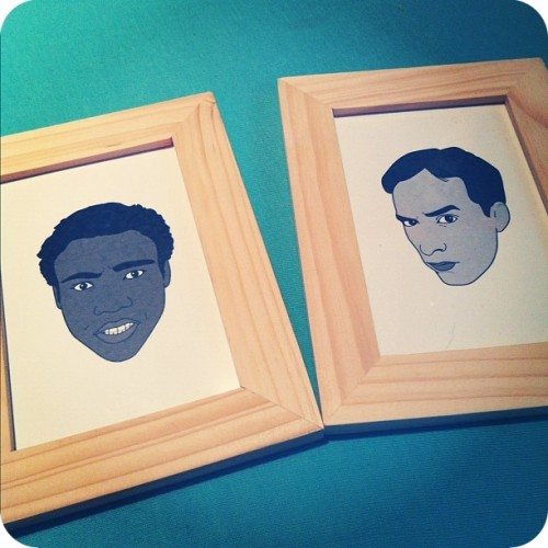Presents from Jasmine: Troy & Abed portraits, by Brian Mietz!