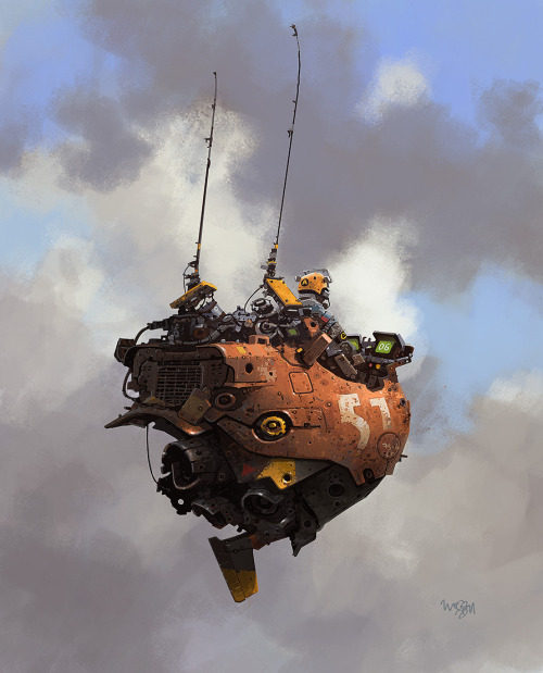 Cool concept art by the talented  Ian McQue