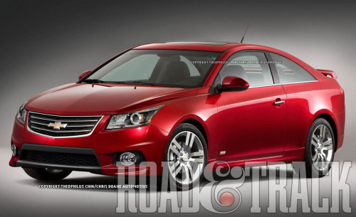 The 2014 Chevrolet Cruze Coupe SS could come with GM's potent turbocharged 2.0-liter inline-4 with output hovering in the region of 250 bhp. (Source: Road & Track)