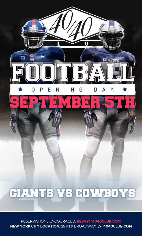 It's that time again!  The New York Giants and Dallas Cowboys face off tonight in the first game of the football season!  We are so ready for this…  …are you?