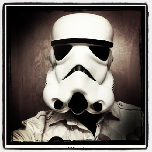 #me getting some  #stormtrooper #swag on! Taken with #hipstamatic #fritzeboy #starwars #enlisted  (Taken with Instagram)