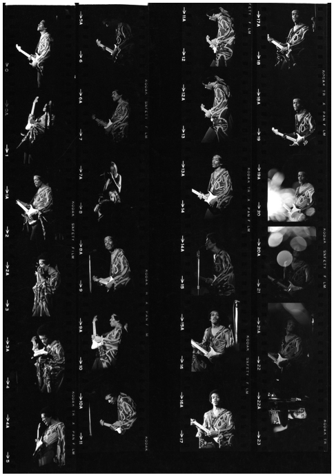 Contact sheet from Jimi Hendrix's performance at the 1970 Second Atlanta Pop Festival—one of his last in the U.S. before his death about three months later—by Sam Feinsilver on Flickr (click image to zoom). On September 15th, a new historical marker commemorating the event will be dedicated in a field in tiny Byron, Georgia, where the 3-day concert actually took place.