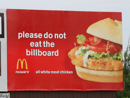 McDonalds - Please do not eat the billboard